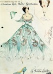A Fontana Sisters sketch of Ava's dress for
