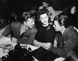 Ava Frank Sinatra Mickey Rooney table talking