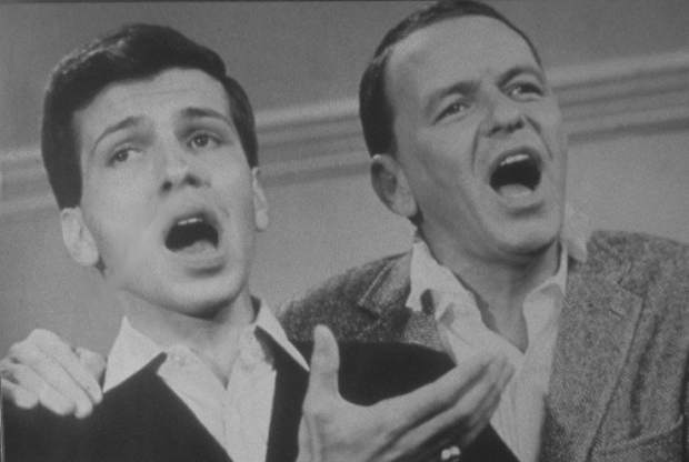 Frank Sinatra and Frank Sinatra Jr. son Tahoe Daily Tribune singing