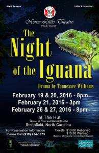 Neuse Little Theater Night of the Iguana promo