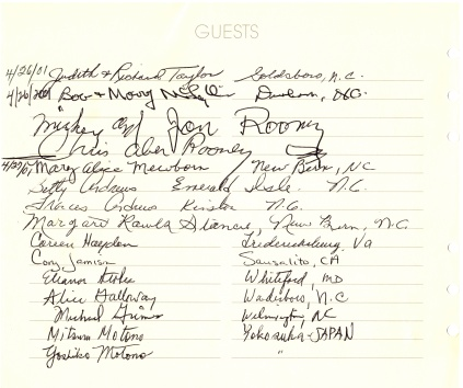 Museum Guest Register - Mickey Rooney.tif