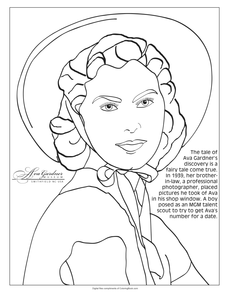 Ava Gardner Coloring Pages_2